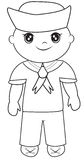 Sailor coloring page Royalty Free Stock Image
