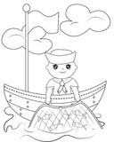 Sailor coloring page. Useful as coloring book for kids Stock Images