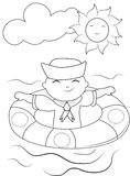Sailor coloring page Stock Photos