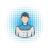 Sailor comics icon. On a white background Stock Photo