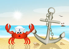 Sailor crab Royalty Free Stock Images