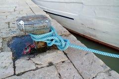 Sailor& x27; cuerda de s Fotografía de archivo