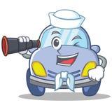 Sailor cute car character cartoon Stock Image