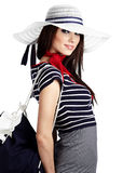 Sailor fashion style Stock Photos