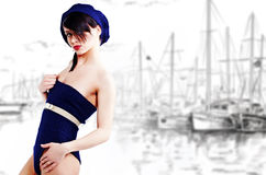 Sailor fashion style Royalty Free Stock Photos