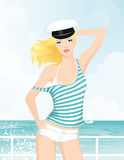 Sailor girl (cap) Stock Photography