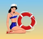 Sailor girl pin-up Stock Image