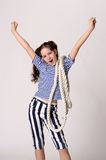 Sailor Girl with Rope Royalty Free Stock Photography