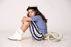 Sailor Girl with Rope Royalty Free Stock Images