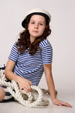 Sailor Girl with Rope Stock Image