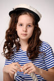 Sailor Girl with Rope Royalty Free Stock Photo