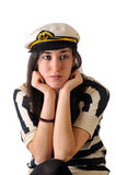 Sailor girl thoughtful Stock Image