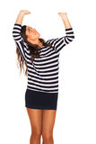 Sailor girl. On white background Royalty Free Stock Photography