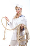Sailor Girl With Rope Royalty Free Stock Image