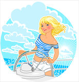 Sailor girl. royalty free illustration