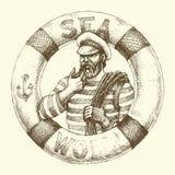 Sailor graphic portrait Stock Image