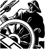 Sailor At The Helm 2 Royalty Free Stock Images