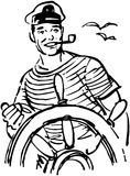 Sailor At The Helm Stock Photography