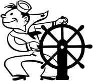 Sailor At Helm Royalty Free Stock Photography