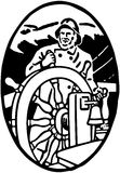 Sailor At The Helm Vignette Royalty Free Stock Photo