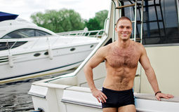 Sailor on his yacht. Stock Photography