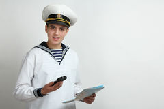 Sailor Holding A Map And A Compass Stock Photography