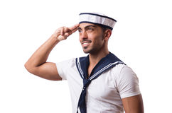 Sailor isolated on the white background. The sailor isolated on the white background Royalty Free Stock Photography