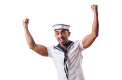 Sailor isolated on the white background Royalty Free Stock Images