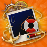 Sailor items Royalty Free Stock Photo