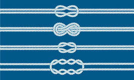 Sailor knot dividers set. Nautical rope infinity sign. Rope border. Tying the knot. Graphic design element for wedding invitations, baby shower, birthday card Stock Photography
