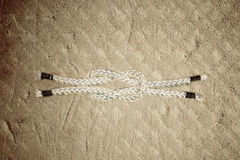 Sailor knot rope ,square reef knot Royalty Free Stock Photos