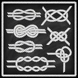 Sailor knot set Stock Photo