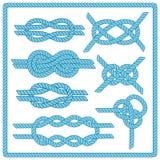 Sailor knot set Stock Photography