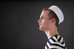 Sailor looks into the distance Royalty Free Stock Image