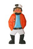 Sailor Man. Wooden sailor carving or figurine. Has clipping path royalty free stock photos