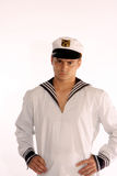 Sailor man frowns royalty free stock images