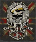 Sailor man skull tee graphic design Stock Photography