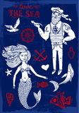 Sailor and mermaid Royalty Free Stock Image