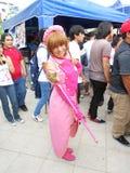 Sailor Moon Cosplay przy komicznym konwencji wydarzeniem obraz royalty free