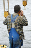 Sailor On The Phone Royalty Free Stock Photo
