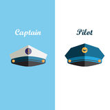 Sailor and pilot cap Stock Photography