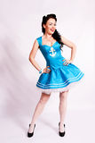 Sailor pin up girl with bright make up. Stock Images