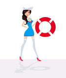 Sailor - pin-up girl Royalty Free Stock Photos