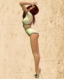 Sailor pinup girl Royalty Free Stock Photo