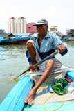 Sailor in port of Jakarta, Indonesia Stock Images