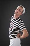 Sailor posing in studio Stock Photography