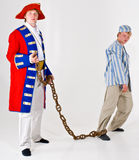 Sailor and prisoner. Two models with a theme - Sailor and his prisoner Royalty Free Stock Photography