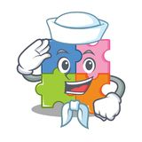 Sailor puzzle character cartoon style Royalty Free Stock Photos