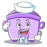Sailor rice cooker character cartoon Stock Image
