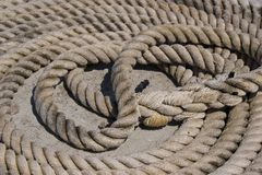 Sailor Rope of Figure Eight Royalty Free Stock Images